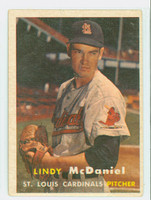 1957 Topps Baseball 79 Lindy McDaniel ROOKIE St. Louis Cardinals Very Good