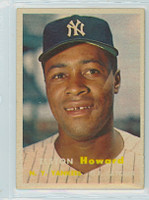 1957 Topps Baseball 82 Elston Howard New York Yankees Excellent