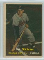1957 Topps Baseball 83 Lou Skizas Kansas City Athletics Very Good to Excellent