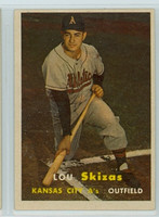 1957 Topps Baseball 83 Lou Skizas Kansas City Athletics Excellent to Mint