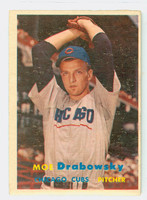 1957 Topps Baseball 84 Moe Drabowsky Chicago Cubs Very Good