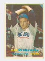 1957 Topps Baseball 84 Moe Drabowsky Chicago Cubs Excellent