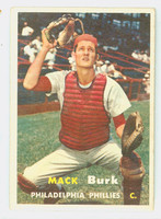 1957 Topps Baseball 91 Mack Burk Philadelphia Phillies Very Good