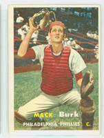 1957 Topps Baseball 91 Mack Burk Philadelphia Phillies Very Good to Excellent