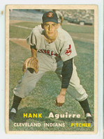 1957 Topps Baseball 96 Hank Aguirre Cleveland Indians Very Good