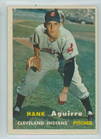 1957 Topps Baseball 96 Hank Aguirre Cleveland Indians Very Good to Excellent