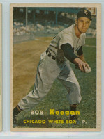 1957 Topps Baseball 99 Bob Keegan Chicago White Sox Excellent to Mint