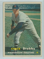 1957 Topps Baseball 101 Chuck Stobbs Washington Senators Very Good to Excellent