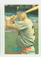 1957 Topps Baseball 104 Hank Foiles Pittsburgh Pirates Very Good