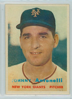 1957 Topps Baseball 105 Johnny Antonelli New York Giants Very Good to Excellent