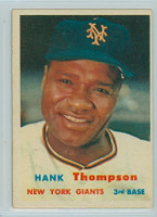 1957 Topps Baseball 109 Hank Thompson New York Giants Very Good to Excellent