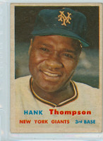1957 Topps Baseball 109 Hank Thompson New York Giants Excellent