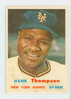 1957 Topps Baseball 109 Hank Thompson New York Giants Excellent to Mint