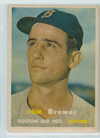 1957 Topps Baseball 112 Tom Brewer Boston Red Sox Excellent