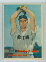 1957 Topps Baseball 118 Bob Porterfield Boston Red Sox Very Good to Excellent