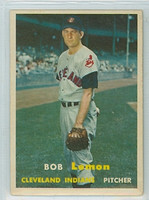 1957 Topps Baseball 120 Bob Lemon Cleveland Indians Very Good to Excellent