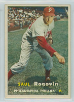 1957 Topps Baseball 129 Saul Rogovin Philadelphia Phillies Excellent