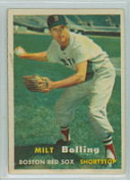 1957 Topps Baseball 131 Milt Bolling Boston Red Sox Very Good to Excellent