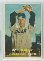 1957 Topps Baseball 134 Don Kaiser Chicago Cubs Very Good to Excellent