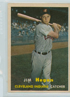 1957 Topps Baseball 136 Jim Hegan Cleveland Indians Excellent to Mint