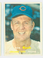1957 Topps Baseball 137 Bob Rush Chicago Cubs Very Good