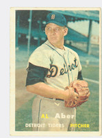 1957 Topps Baseball 141 Al Aber Detroit Tigers Very Good