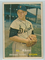 1957 Topps Baseball 141 Al Aber Detroit Tigers Very Good to Excellent