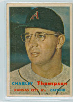1957 Topps Baseball 142 Charley Thompson