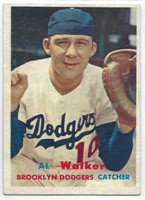 1957 Topps Baseball 147 Al Walker Brooklyn Dodgers Excellent to Mint