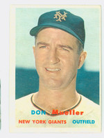 1957 Topps Baseball 148 Don Mueller New York Giants Very Good to Excellent