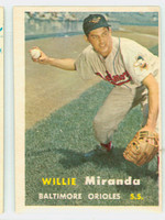 1957 Topps Baseball 151 Willie Miranda Baltimore Orioles Very Good