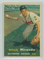 1957 Topps Baseball 151 Willie Miranda Baltimore Orioles Excellent to Mint