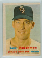 1957 Topps Baseball 152 Jack Harshman Chicago White Sox Very Good to Excellent