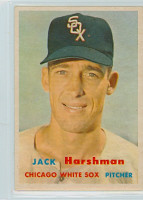 1957 Topps Baseball 152 Jack Harshman Chicago White Sox Excellent to Mint