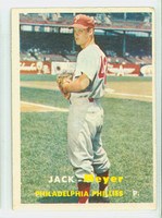 1957 Topps Baseball 162 Jack Meyer Philadelphia Phillies Very Good