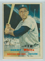 1957 Topps Baseball 163 Sammy White Boston Red Sox Very Good to Excellent