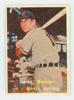 1957 Topps Baseball 197 Hank Sauer New York Giants Very Good to Excellent