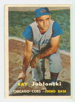 1957 Topps Baseball 218 Ray Jablonski Chicago Cubs Very Good