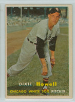 1957 Topps Baseball 221 Dixie Howell Chicago White Sox Very Good to Excellent