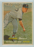 1957 Topps Baseball 229 George Susce Boston Red Sox Very Good to Excellent