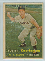 1957 Topps Baseball 237 Foster Castleman New York Giants Very Good to Excellent