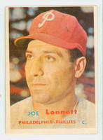 1957 Topps Baseball 241 Joe Lonnett Philadelphia Phillies Very Good