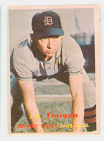 1957 Topps Baseball 248 Jim Finigan Detroit Tigers Very Good