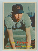 1957 Topps Baseball 248 Jim Finigan Detroit Tigers Very Good to Excellent