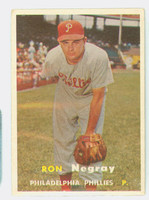 1957 Topps Baseball 254 Ron Negray Philadelphia Phillies Very Good