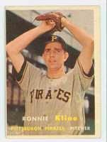 1957 Topps Baseball 256 Ron Kline Pittsburgh Pirates Very Good