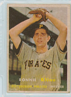 1957 Topps Baseball 256 Ron Kline Pittsburgh Pirates Very Good to Excellent