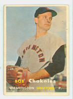 1957 Topps Baseball 261 Bob Chakales Washington Senators Very Good