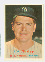1957 Topps Baseball 264 Bob Turley New York Yankees Very Good