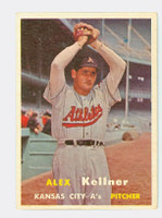 1957 Topps Baseball 280 Alex Kellner Tough Series Single Print Kansas City Athletics Very Good